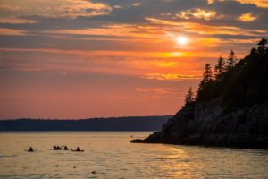 Sunset on Frenchman's Bay from the Getty Collection app-Diane Diederich, photographer