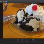 Image of an online photo editor