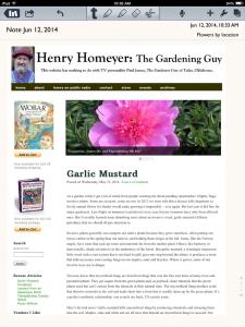 image of Henry Homeyer's website