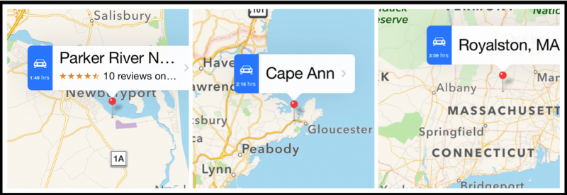 Maps on an iPhone--Google Maps will give you the same info.