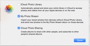 Check Photo Stream and iCloud Photo Sharing.