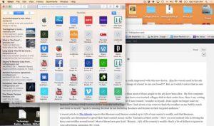 Desktop Screen Shot from My Mac Air