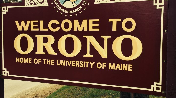 Town of Orono sign