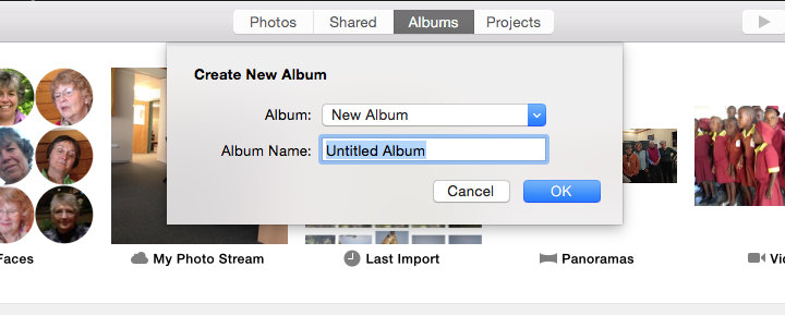 Photos for Mac–How Do I Make an Album?