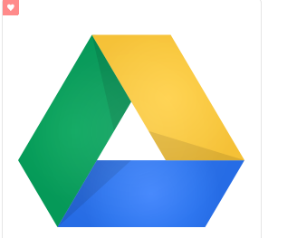 Icon for Google Drive. You will find Google Photos here!