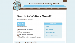 It's time to write that novel you always wanted to write