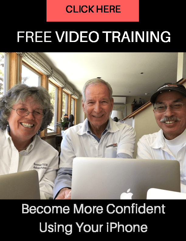 Click Here to View Our Free Video Training, Become More Confident Using Your iPhone